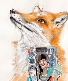 #Tanja Maria Ernst-  #painting #contemporary art #fox