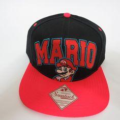 Super Mario Nintendo Hat Cap Snapback Baseball COMICS COSTUME COSPLAY Hat   SuperMario  BaseballCap 07bed7608098