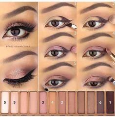UD Naked 3 palette - pink smoky eye