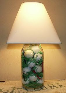 Red Mommy Crafts: Golf Ball Lamp