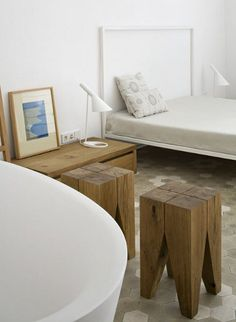 DIY log seats