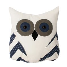 Tootsie Owl Pillow Navy