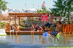 Bikini Beach Decks and Rope swing at the Buffalo Chip during the Sturgis Rally