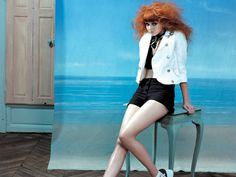 OLIVE des OLIVE #fashion #lilycole #model #cute #beautiful #girl #fashionphoto #korean #olivedesolive #summer Red Hair Model, Lily Cole, Olive, Character Inspiration, Blazer, Beautiful, Women, Fashion, Moda