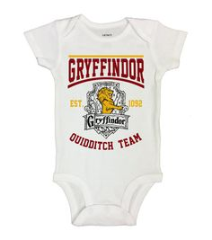 "Cute Kids Baby Potter Onesie "" Gryffindor Jersey ""  Hogwarts - Movie Onesies - Harry Potter Collection - Rompers Bodysuits and Toddler - 160"