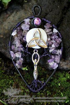 Tree of Life - Amethyst Triquetra Moon Goddess by GelArt on Etsy
