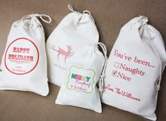 muslin bags with embroidery