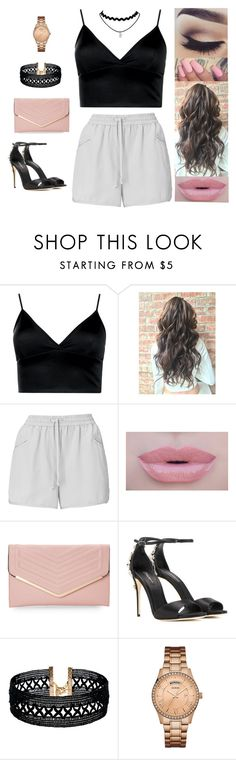 """""""Untitled #4449"""" by sigalv ❤ liked on Polyvore featuring Boohoo, Whistles, Morphe, Sasha, Dolce&Gabbana, Vanessa Mooney and GUESS"""