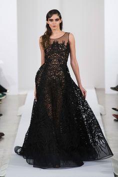 Black wedding dress. Oscar de la Renta Fall 2013