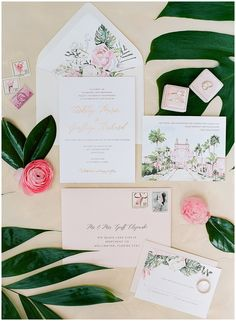 EVR Paper Co. custom wedding invitations for a tropical wedding at the Don CeSar with The Mrs. Box || The Ganeys