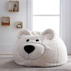 Bear Faux-Fur Critter Beanbag #pbteen