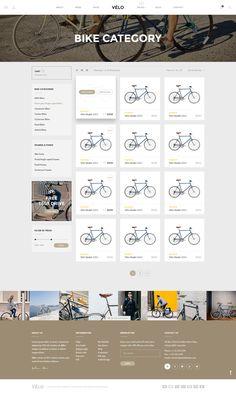 Velo - Stunning Bike Store eCommerce PSD Template - PSD Templates   ThemeForest