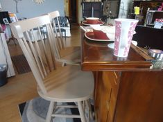 Repurposed Breakfast Bar/Kitchen Island with High Back Bar Stools | The Artery | Madison Online Art Store