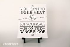 Printable Wedding Seating Plan Dance Floor by TheLovebirdPress, $5.00