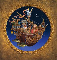THE ROYAL MUSIC BARQUE by James Christensen