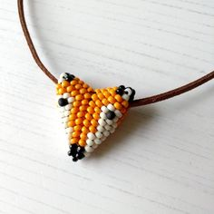 Hand Beaded Fox Necklace - The British Craft House Fox Face, Craft House, Fox Pattern, Message Card, Beautiful Gifts, Lampwork Beads, Home Crafts, Seed Beads, Chokers