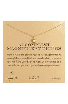 'Accomplish Magnificent Things' Boxed Pendant Necklace by Dogeared - Found on HeartThis.com @HeartThis | See item http://www.heartthis.com/product/169837446975226960?cid=pinterest