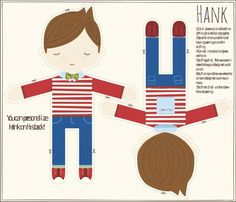 Hank: printed fabric doll pattern...for James