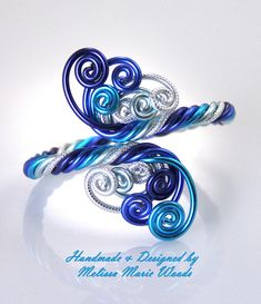 This cute Adjustable Bracelet is made entirely out of anodized aluminum making them non tarnishing, light as a feather and Hypo allergenic. Anodizing is the color finish on the aluminum, it will not rub off with water, sweat or onto skin. Only an abrasive can damage the color finish on