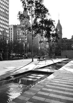 'Winter Sun'. City Square, Melbourne. © G.C. Campbell.