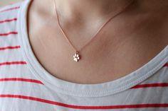 Pata pequeña impresión collar / collar del encanto de la por HUDOCA