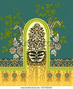 Flower Art Images, Egypt Jewelry, Indian Flowers, Design Seeds, Botanical Flowers, Border Design, Textile Design, 3 Piece, Royalty Free Stock Photos