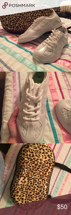 varsity cheer shoes with a cheetah print bag. never been worn, varsity cheer shoes. size 6.5. bundling with an Infinty cheetah print bag. if you want to buy separately just leave a comment letting me know and i will post a new listing. Varsity Shoes Athletic Shoes