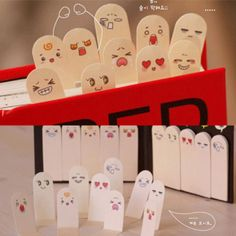 Cute 200 Pages Ten Fingers Sticker Post It Bookmark Flags Memo Sticky Notes Xica | eBay