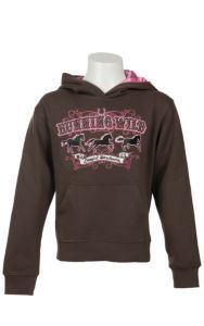 Cowgirl Hardware Girls Brown with Pink Running Wild Logo Pullover Hoodie | Cavender's