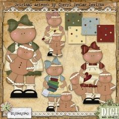 Mama Gingerbread 1 - Exclusive Cheryl Seslar Country Clip Art