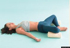 Yoga poses before you even get out of bed. So much better than reaching for the iPhone first thing in the morning