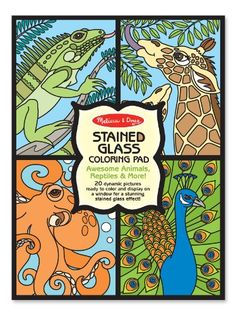 Melissa and Doug Stained Glass Coloring Pad-Animals *** More info could be found at the image url.