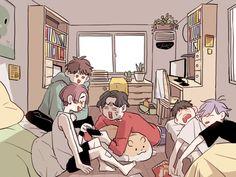 Cartoon Kunst, Anime Kunst, Cartoon Art, Anime Art, Aesthetic Drawing, Aesthetic Art, Aesthetic Anime, Art And Illustration, Illustrations
