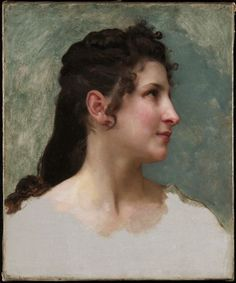 Study of a Girl's Head, c. 1890 William Adolphe Bouguereau (French, 1825 - oil on canvas, painting William Adolphe Bouguereau, Figure Painting, Painting & Drawing, Painting Process, Beaux Arts Paris, Munier, Artist Materials, Classical Art, Old Master