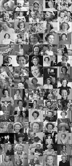 Koningin-Prinses Beatrix van kind tot volwassen vrouw (NL)