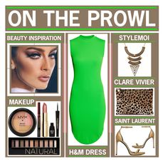 """""""On The Prowl"""" by latoyacl ❤ liked on Polyvore featuring Clare V., H&M, Yves Saint Laurent, Forever 21, Napoleon Perdis and NYX"""