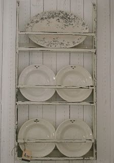 shabby chic kitchen Display serving pieces to inspire usage and decorate a room and cut down on storage problems
