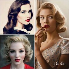 vintage curls pintrest | Photo credits: (Clockwise) Bespoke Bride , Pinterest , Pinterest