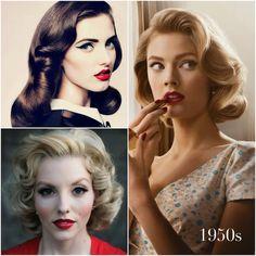 vintage curls pintrest | Photo credits: (Clockwise) Bespoke Bride , Pinterest , Pinterest