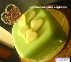 My Cooking N Baking Diary: Pandan Layer Cake Pandan Layer Cake, Green Tea Recipes, Mom Cake, Indonesian Food, Matcha Green Tea, Cake Decorating, Bakery, Pudding, Cooking