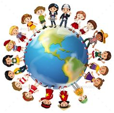 Buy Children From Many Countries Around The World by BlueRingMedia on GraphicRiver. Children from many countries around the world illustration This image was created using Adobe Indesign Included .
