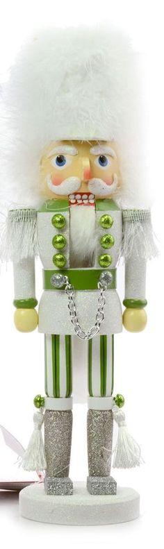 """Kurt S. Adler 15"""" Hollywood Green & White Christmas Nutcracker, HA0011 (1 of 3) #KurtAdler"""