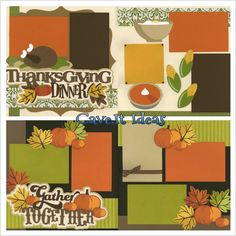 Scrapbook idea for Thanksgiving.