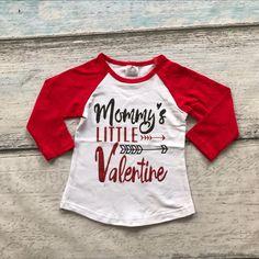 b126937ff58f baby girls raglan tops V day raglan girls mommy s little raglans Valentine  Autumn top girls Valentines day icing raglans tshirt-in Tees from Mother    Kids ...