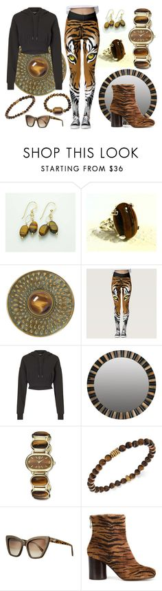 """""""Eye of the tiger"""" by iconexpressions ❤ liked on Polyvore featuring Addison Weeks, Miss Selfridge, Charles Hubert, Degs & Sal, Prism and Maison Margiela"""