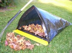 Trash Bag & Leaf Bag Holder with Large Dust Pan for Raking and Sweeping Yard and Garden Collection - BagJaw Garden Bags, Diy Garden Bed, Diy Garden Furniture, Lawn And Garden, Best Garden Tools, Yard Waste, Trash Bag, Backyard Projects, Lawn Care