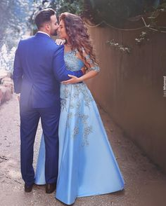 Modest Prom Dresses,Sexy New Prom Dress,New Arrival Prom Gowns Sexy Ball Gown Blue Evening Gowns