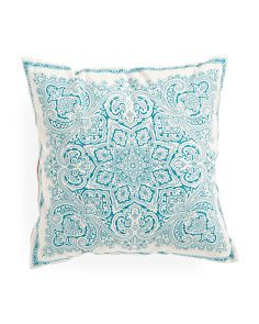 Made In India 20x20 Serene Medallion Printed Pillow