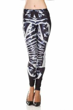 673e14d08cf4b0 Amazon.com: Amour - Women Rock X-ray Skeleton Bone Skull Leggings Tights  Black (Regular Size, Sci-Fi Punk Muscles): Clothing
