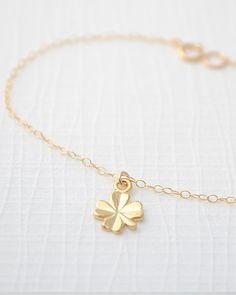 Gold Shamrock Bracelet